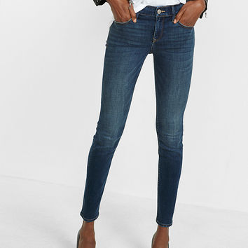 Mid Rise Performance Stretch Skinny Jeans