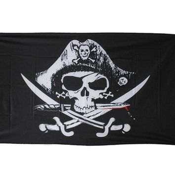 Huge 3x5FT Skull and Cross Swords Jolly Roger Pirate Flags