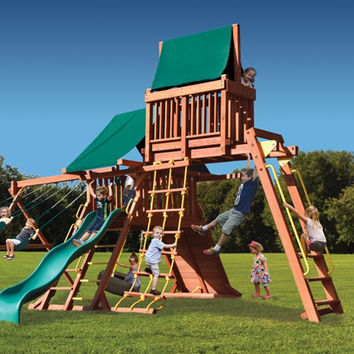 Playground One Original Playcenter with Monkey Bars and Sky Loft