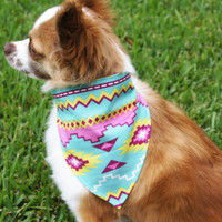 Colorful Native Dog Bandanna