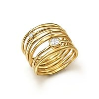 IPPOLITA18K Yellow Gold Glamazon® Stardust Movie Star Ring with Diamonds