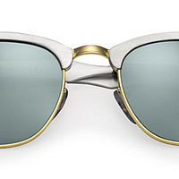Ray-Ban RB3507 137/40 49-21 CLUBMASTER ALUMINUM Silver sunglasses | Official Online Store US