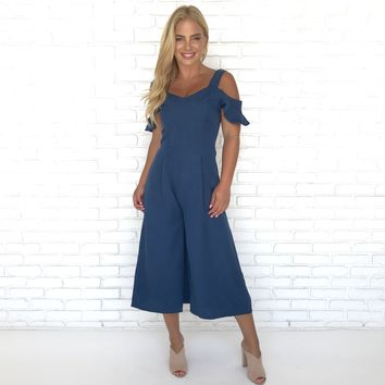 For A Moment Ruffled Jumpsuit