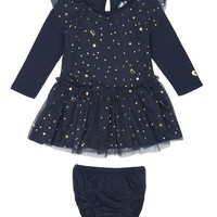 Regal Baby 2Pc Starry Roads Print Tulle Dress With Panty by Juicy Couture,