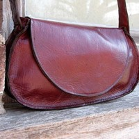 Rustique Petite Reddish Brown Leather Bag by Stacy by stacyleigh
