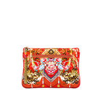 Small Canvas Clutch in Cameos Dance
