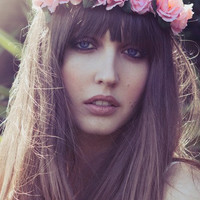 Eterie Pink rose, headband, flower crown, floral crown, bohemian, coachella, festival, gypsy