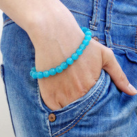 8 mm Mens Bracelet Blue Cat's Eye Men Bracelete Bracelet Perle Homme Men Bracelete Beaded Men Bracelet Mens Beaded Bracelet Men's Bracelet