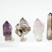 Miniature Quartz Crystal Garden Mineral Collection 6 Unique Quartz Crystals