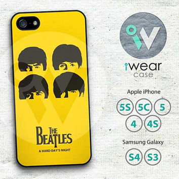 The Beatles A Hard Day's Night iPhone 4 Case, iPhone 4S Case, iPhone 5 Case - Yellow Cover Plastic iPhone 4s 4 5 Case - IP4BTAHDN01