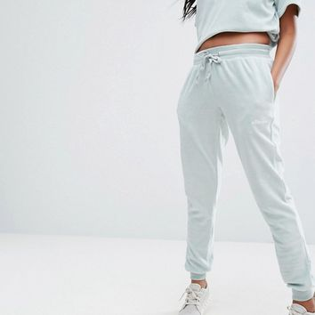 Ellesse Slim Sweatpants In Velour Co-Ord at asos.com