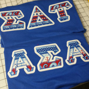 Custom Sorority V-Neck Letter Shirts