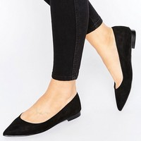 ASOS LACEY Wide Fit Pointed Ballet Flats at asos.com