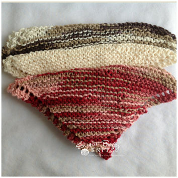 Knit Dish/Wash Cloths- package of 3