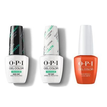 OPI - GelColor Combo - Base, Top & Suzi Needs a Loch-smith