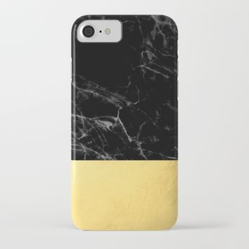 Black Marble & Gold iPhone & iPod Case by New Wave Studio
