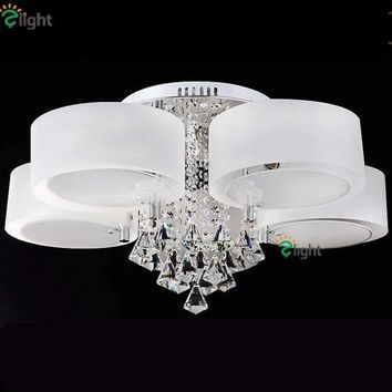 Nordic Minimalism Acrylic Rings Led Chandeliers Modern Lustre Crystal Dining Led Chandelier Lighting Dimmable Ceiling Chandelier