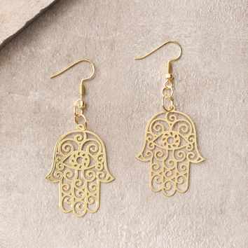 Best Gold Hamsa Earrings Products on Wanelo a0ebded18a