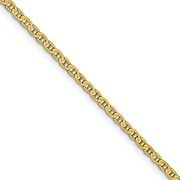 2.4mm 10k Yellow Gold Flat Anchor Chain Necklace