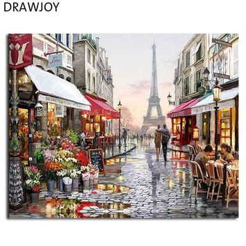 ESBONHS DRAWJOY Framed Pictures DIY Painting By Numbers Wall Art Acrylic Paintings Handpainted Home Decor For Living Room GX4547