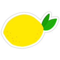 'Lemon sticker' Sticker by Mhea