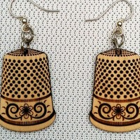 Thimble Earrings~ Exclusive Design
