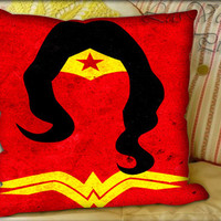 Simple WonderWoman Pattern - Pillow Cover and Pillow Case.