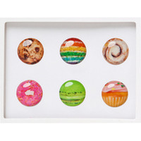 Dessert Pack of 6 Home Button Stickers