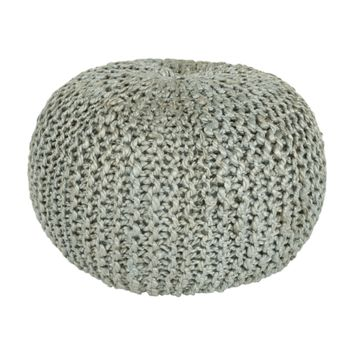 Bermuda Pouf ~ Light Gray