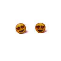 Emoji Heart Eyes Earrings