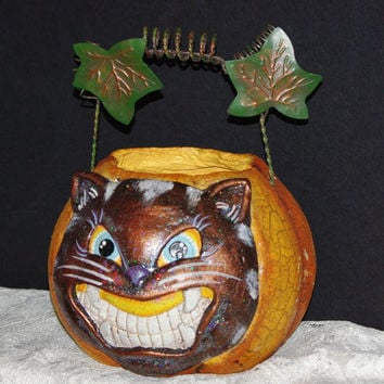 Halloween Pumkin with Scary Black Cat for your Home Decoration