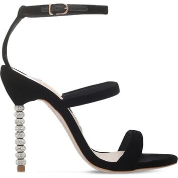 SOPHIA WEBSTER - Rosalind crystal-embellished velvet sandals | Selfridges.com