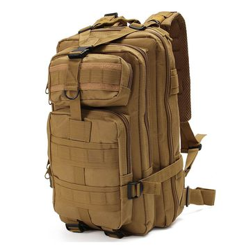 25L Unisex Outdoor Sport Military Tactical Backpack Camping Hiking Bag Rucksacks travel Mountaineering outdoor climbing bag