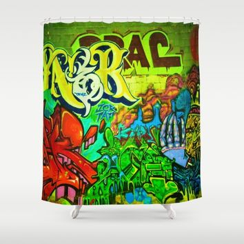 Graffiti Rave - Imagine Photography Shower Curtain by Chanelle Lynn