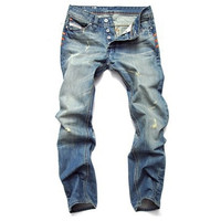 Fashion Men's Casual Straight Jeans Pants = 1901160388