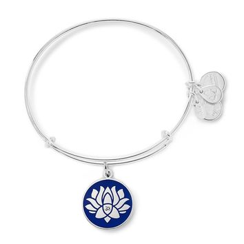 Blue Lotus Peace Petals® Charm Bangle