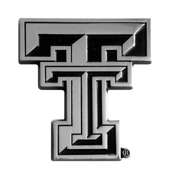 Texas Tech Red Raiders NCAA Chrome Car Emblem (2.3in x 3.7in)