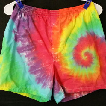 Hand Dyed tie dye Gildan Premium Cotton Blend Boxers Shorts