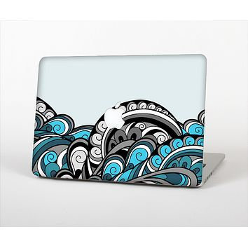 """The Abstract Black & Blue Paisley Waves Skin for the Apple MacBook Pro Retina 13"""""""