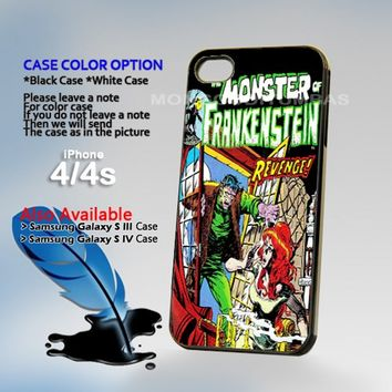 Comic The Monster Of Frankenst, Photo On Hard Plastic iPhone 4 4S Case