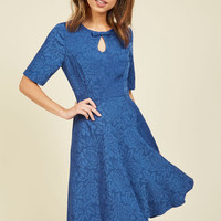 Curated Cartographer Dress in Cerulean