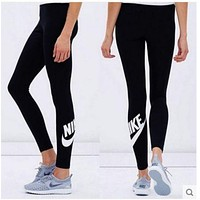 GKI2G Nike Fashion Print Exercise Fitness Gym Yoga Running Sportswear Legging