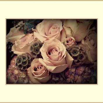 Rose Floral Photography Pink,flower,Gifts under 25,home decor,macro,baby nursery artwork,soft pink,romantic bouquet,