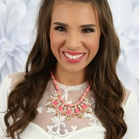 Shine Bright Necklace in Pink