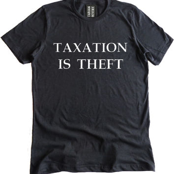 Taxation is Theft Premium Dual Blend T-Shirt