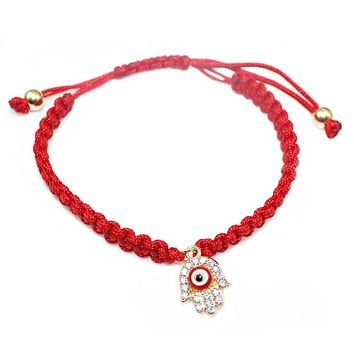 Red String Handmade Bracelet
