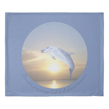 Horizons Quote by Kat Worth Duvet Cover