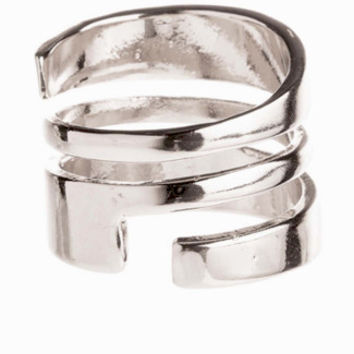 Bandit Wrap Cage Ring in Silver