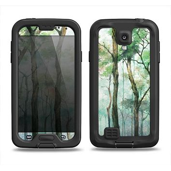 The Watercolor Glowing Sky Forrest Samsung Galaxy S4 LifeProof Fre Case Skin Set