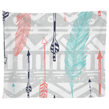 Feathers and Arrows Print Tapestry